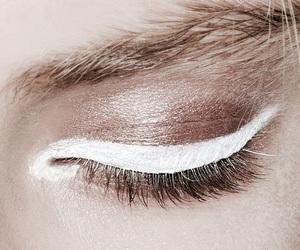 makeup, white, and eye image