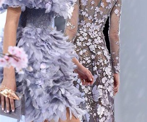 lilac, dress, and haute couture image