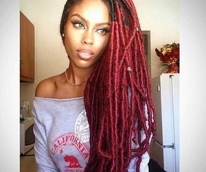 dreads, hair, and hairstyle image