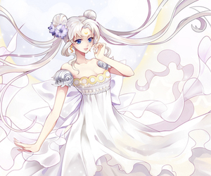 sailor moon and princess serenity image