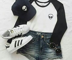 adidas, outfit, and alien image