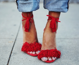 glamour, red, and shoes image