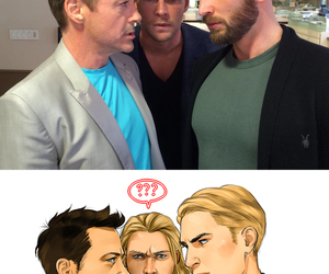 thor, captain america, and iron man image
