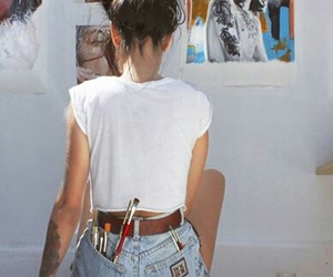 art, color, and girl image