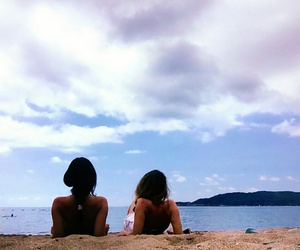 beach, best friend, and bff image