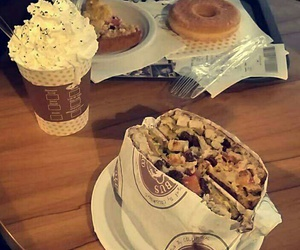 cafe, donut, and lunch image