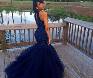 Prom, blue, and dress image