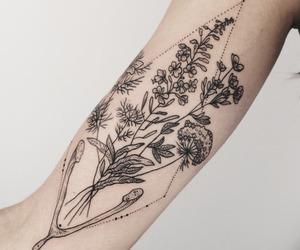 tattoo, flowers, and tumblr image