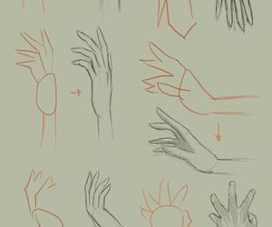 drawing, draw, and hand image