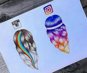 instagram and drawing image
