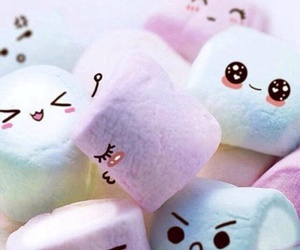 marshmallow, kawaii, and sweet image