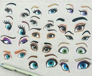 eyes, art, and disney image