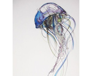 abstract, colours, and jellyfish image