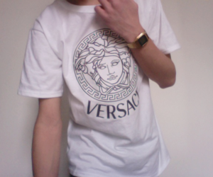 pale, Versace, and boy image