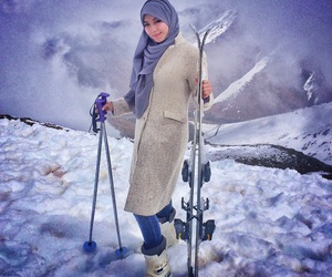 cold, girl, and hijab image