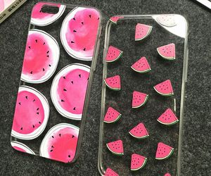 case, watermelon, and iphone image