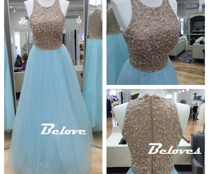 ice blue, sequins, and sleeveless image