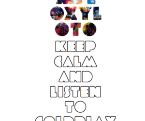 calm, coldplay, and listen image