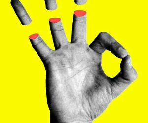 yellow and hand image