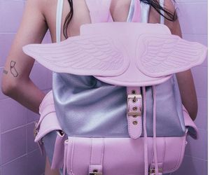 pink, bag, and pale image