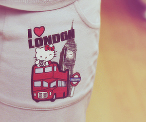london and hello kitty image