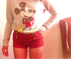 mickey mouse, mouse, and red image
