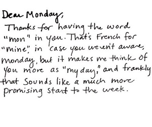 monday, quotes, and french image