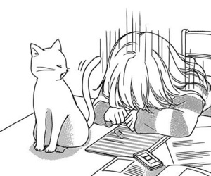 manga, cat, and anime image