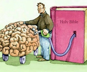 bible, brain, and god image