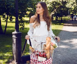 fashion, food, and park image