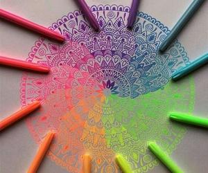 art, mandala, and draw image