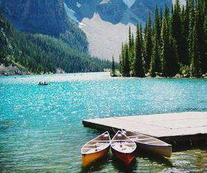 mountains, lake, and canada image