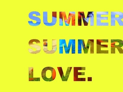 summer, typography, and sun image