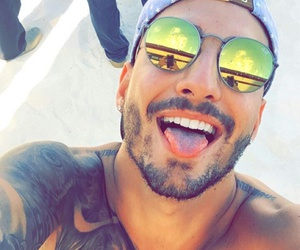 maluma, tattoo, and Hot image