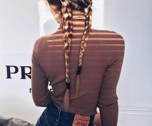 braids, hair, and Prada image