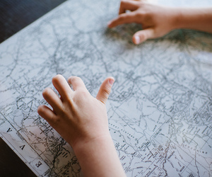 baby, child, and map image