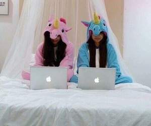 unicorn, friends, and apple image