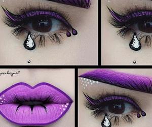 art, purple, and comic image