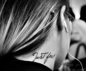 tattoo, black and white, and just feel image