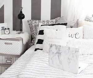 bedroom, marble, and pillows image