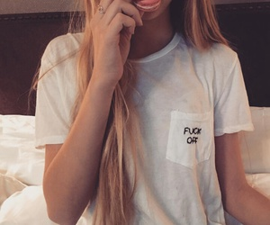 blonde, t-shirt, and funny image