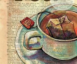 tea, book, and art image