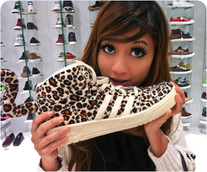 adidas, leopard, and shoe image