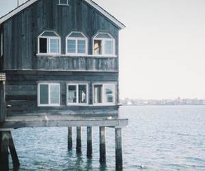 house, photography, and sea image