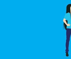 anime, blue, and minimalist image