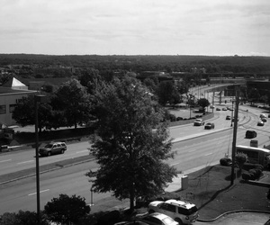 arkansas, hills, and black and white image