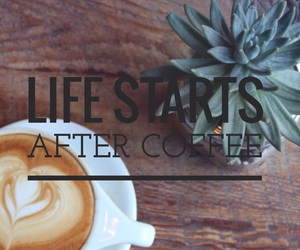 coffee, lifestyle, and easel image