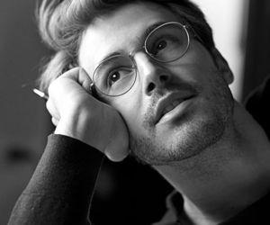 boy, glasses, and man image