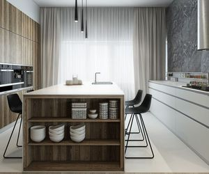 food, kitchen, and wood image