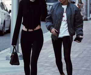 kendall jenner, hailey baldwin, and style image